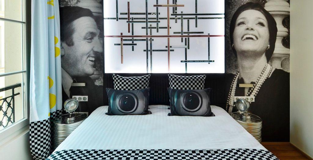 Las habitaciones de Le 123 Sébastopol - Astotel 4* están inspiradas en el cine