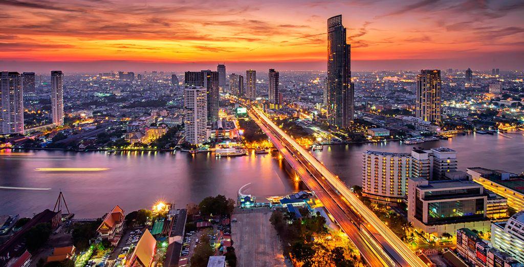 Tu primera parada será la capital, Bangkok