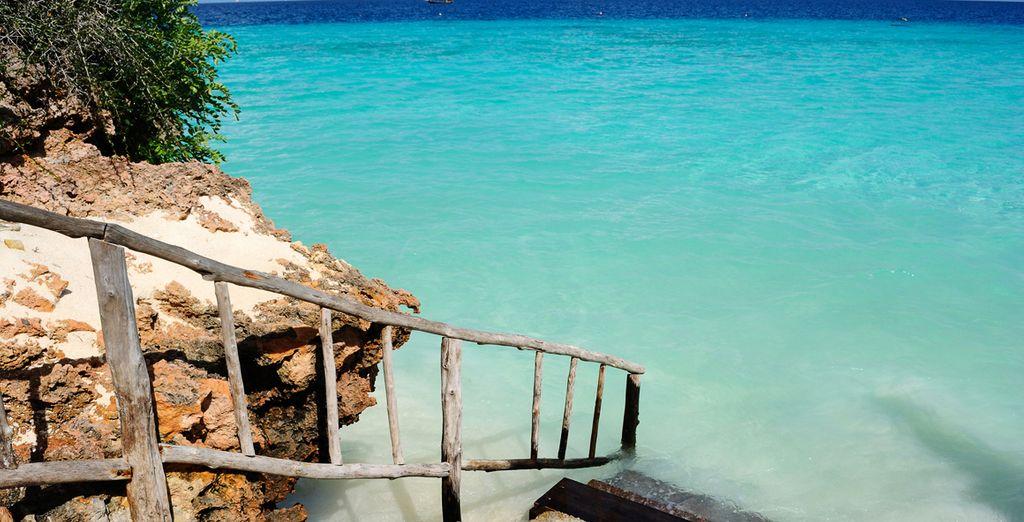 ... y el color del mar turquesa te dejará prendado