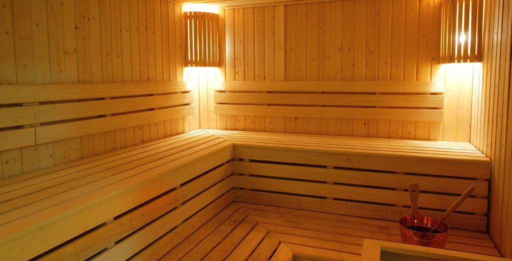 Olvídate del estrés en la sauna