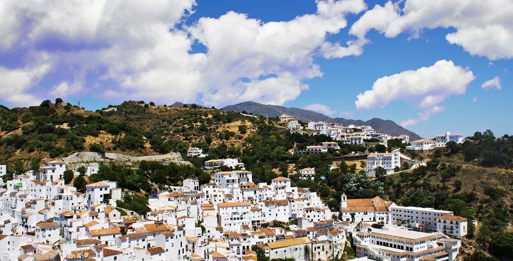 Un pueblo blanco típicamente andaluz
