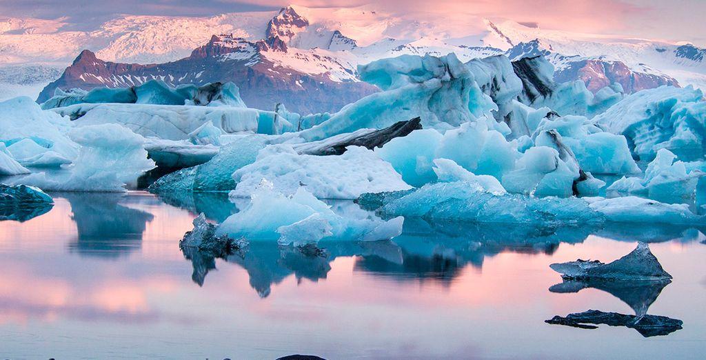 La laguna glaciar de Jökulsarlon