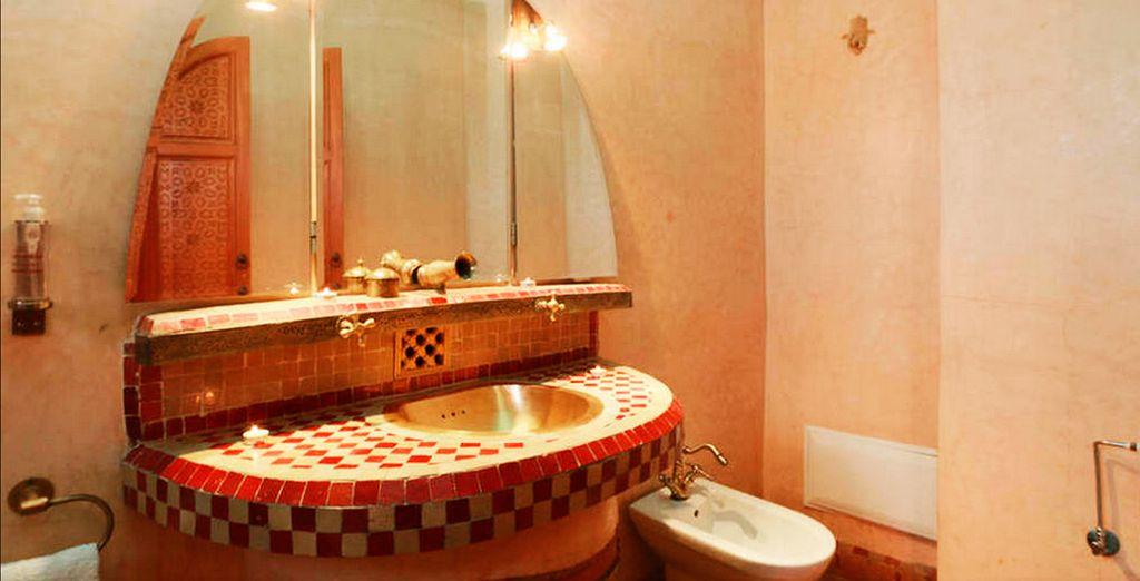 Baños amplios y auténticos
