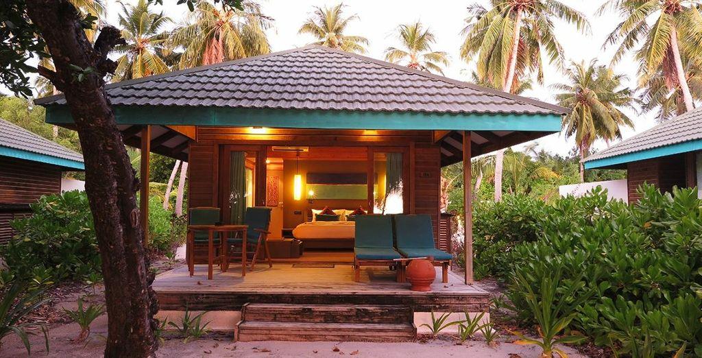 Podrás escoger entre una Sunset Beach Villa...