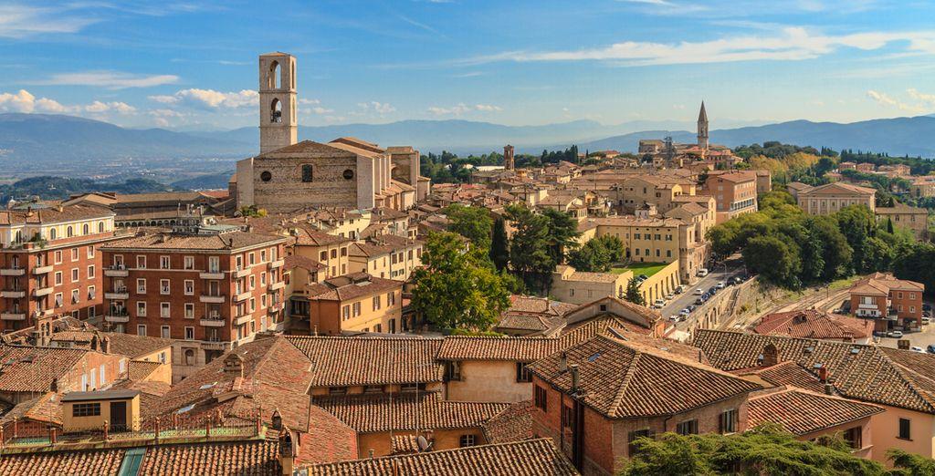 La preciosa ciudad de Perugia