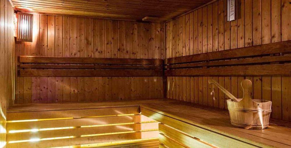 Deja atrás los problemas en la sauna
