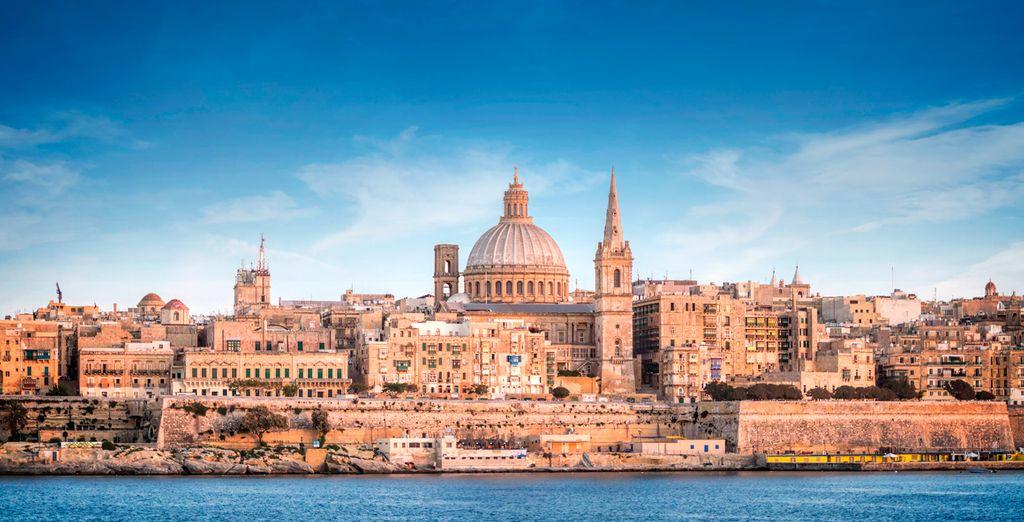 La capital de Malta muy cerca