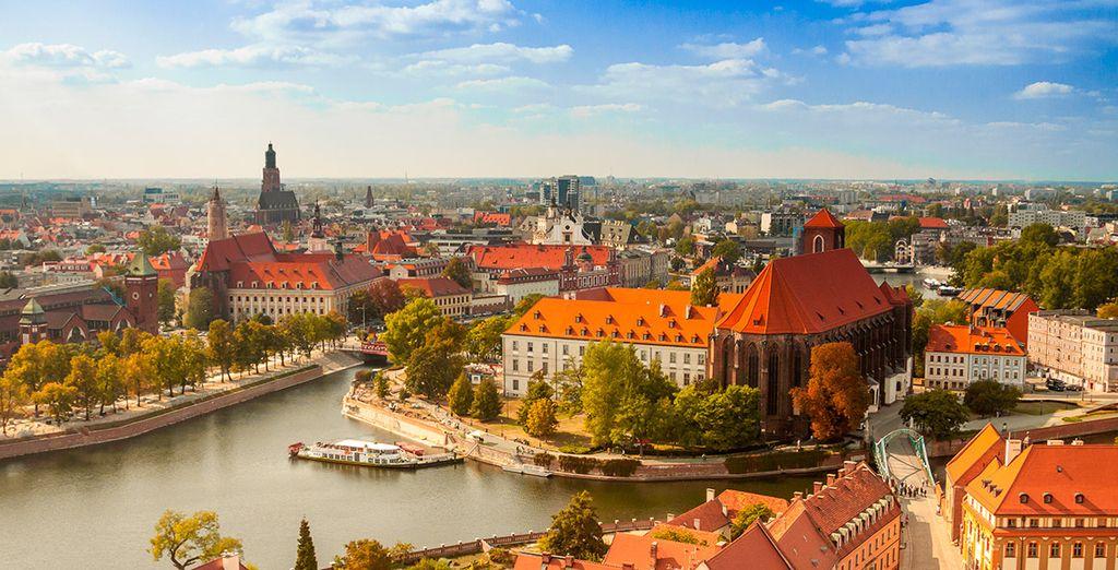 Impresionantes vistas de la ciudad de Wroclaw