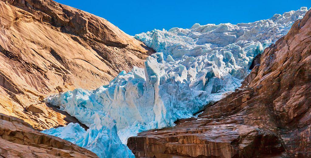 El glaciar de Briksdal