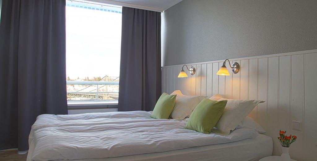 Disfruta del descanso en tu habitación