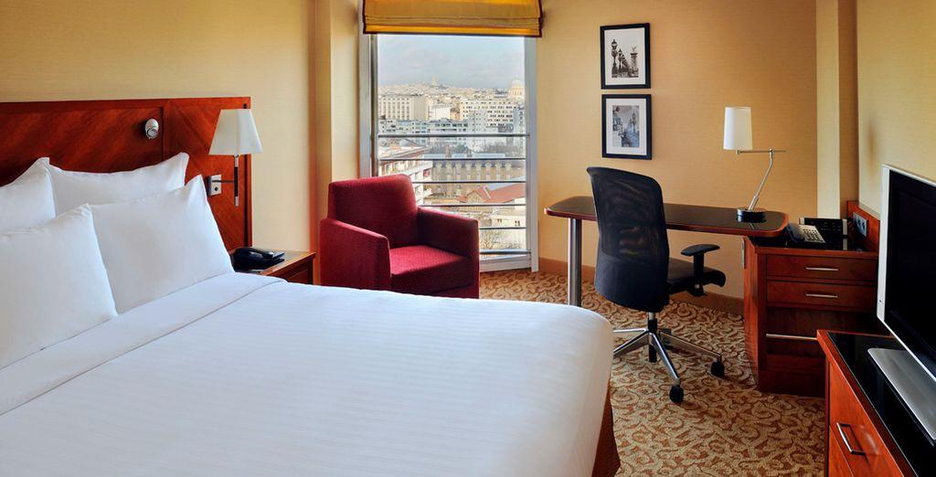 Descansa en una fabulosa habitación con vista París