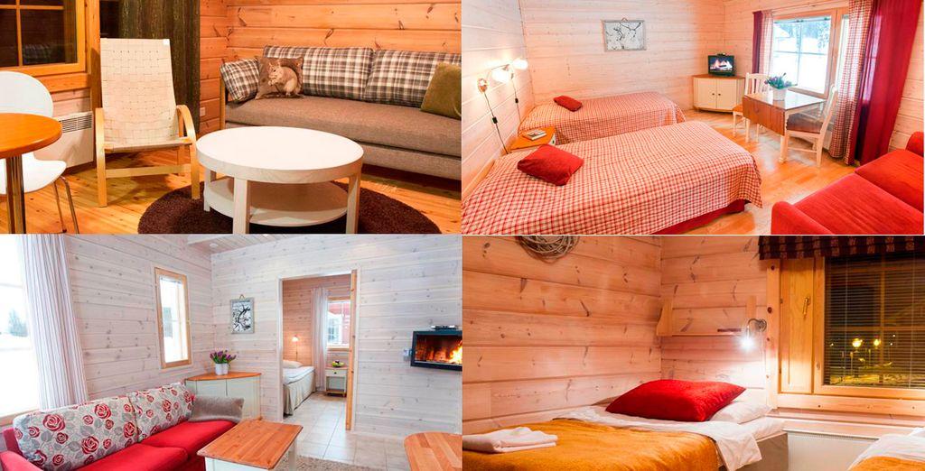 Alojamientos para familias en un ambiente cálido
