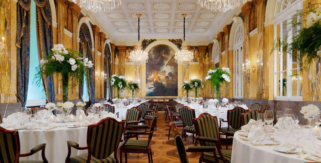 El restaurante Opus ofrece platos galardonados de cocina austriaca