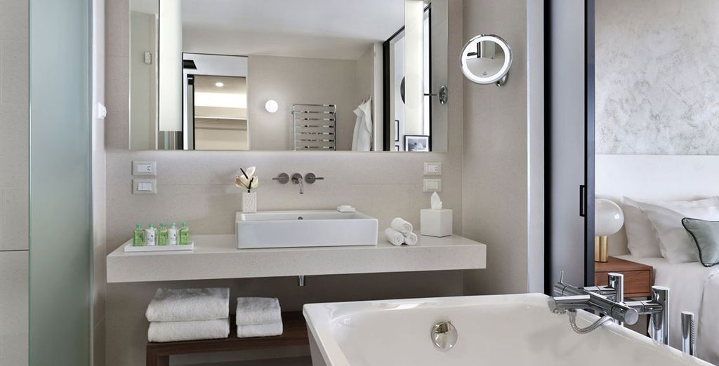 Con baños totalmente equipados