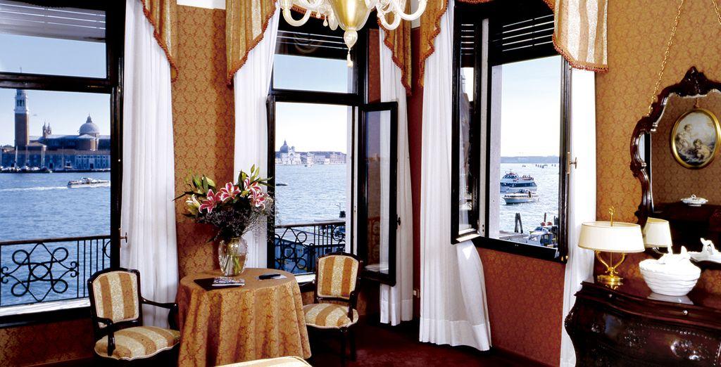 Puedes elegir una habitación Superior con fantásticas vistas en Locanda Vivaldi 4*