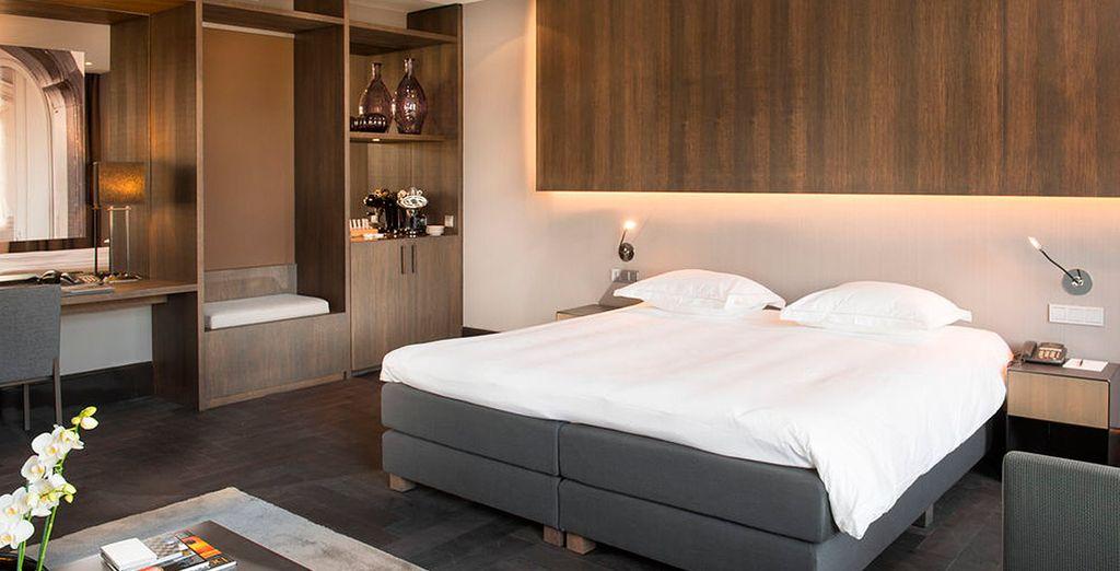 O bien en una Junior Suite, una estancia que invita al descanso