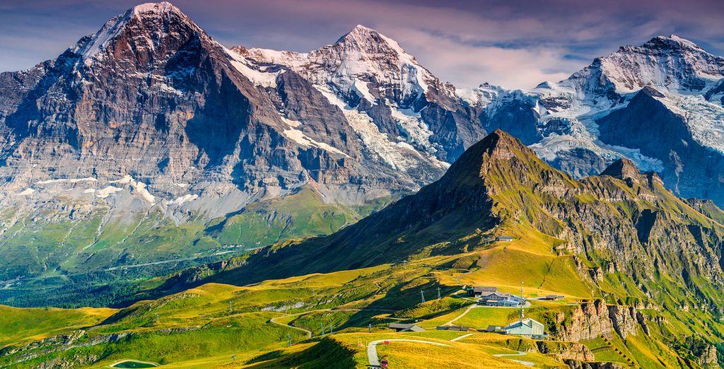 Cautivadora población situada en el monte Jungfrau y rodeada por imponentes montañas