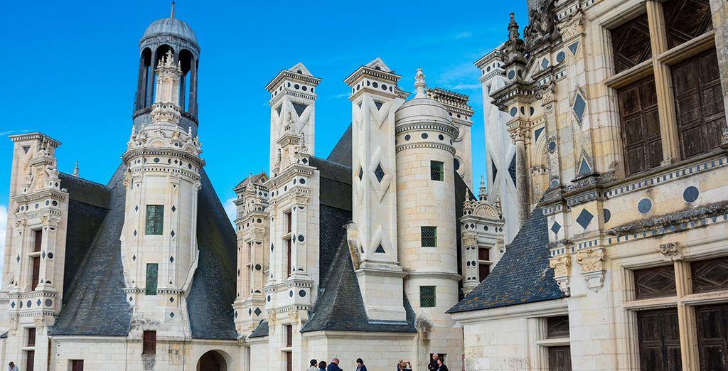 Los tejados de Royal Chateau Chambord