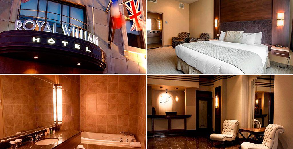 En Quebec te alojarás en el Hotel Royal William 4*