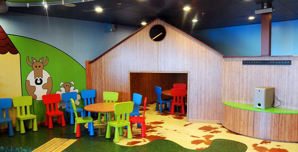 Zonas infantiles para que los niños se diviertan