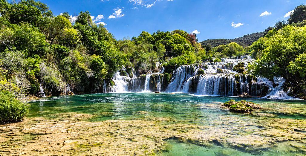 Admiraremos las cascadas del Parque Nacional de Krka