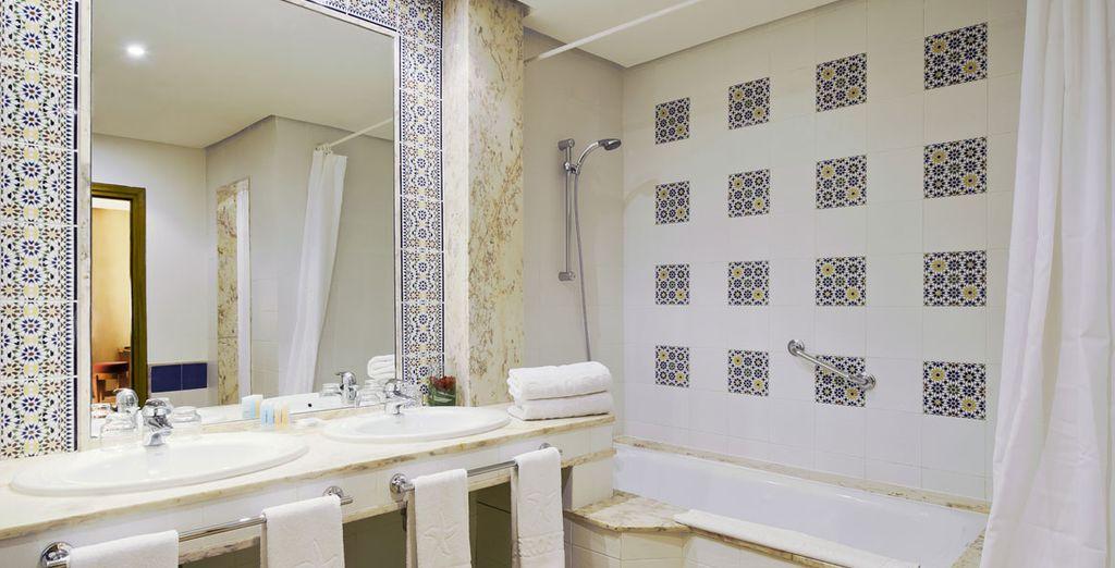 Baños con motivos árabes