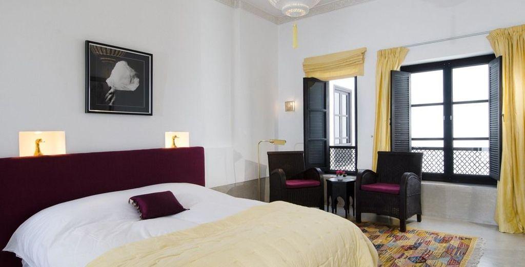 La habitación Citrine, decorada en color limón suave