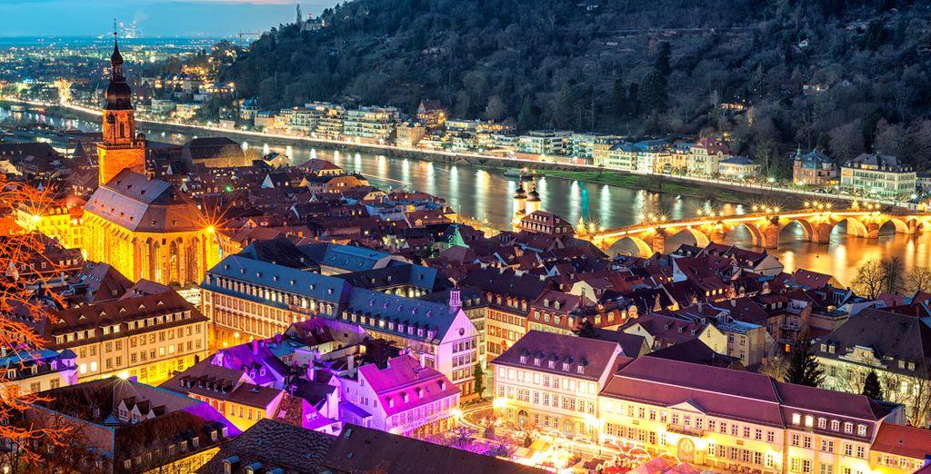 Tu último destino será Heidelberg, uno de los lugares más atractivos y animados del gran valle del Neckar