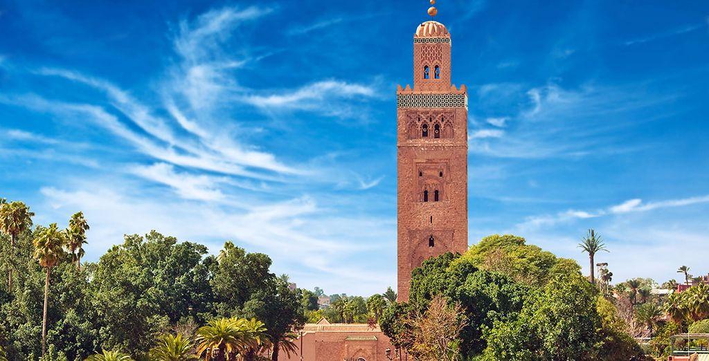 La Mezquita Koutoubia, la más importante de la ciudad