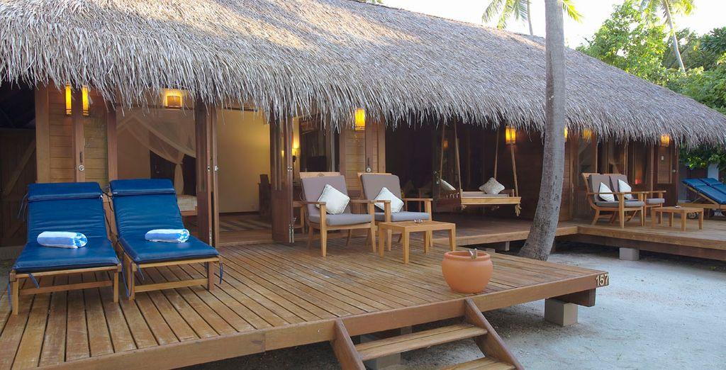 Podrás alojarte en una Beach Villa