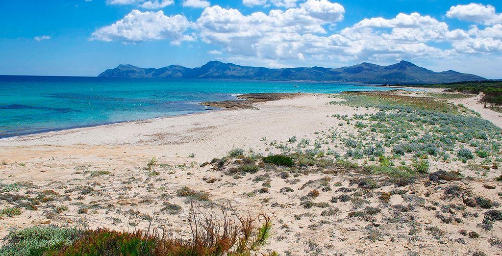 Toda la tranquilidad en las playas de la isla de Mallorca