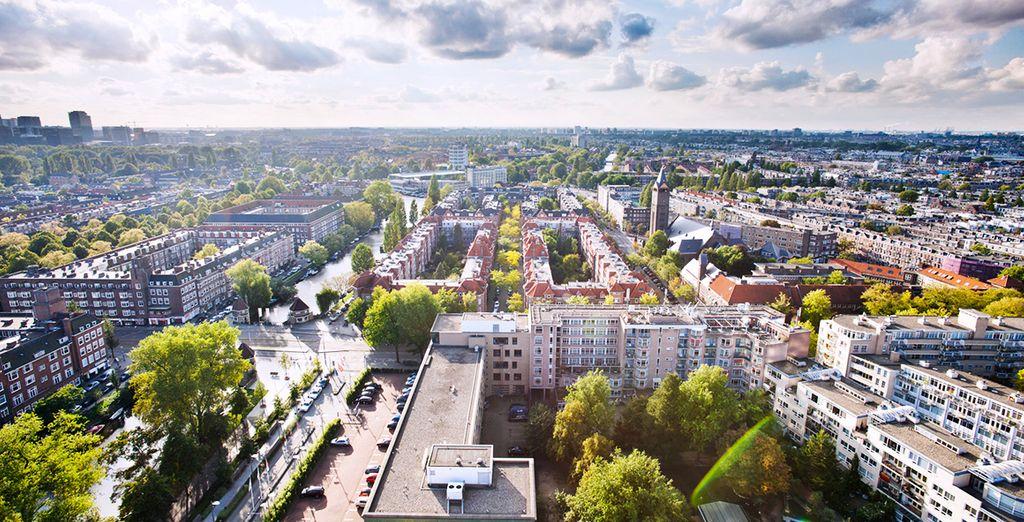 Goza de magníficas vistas a la ciudad de Ámsterdam