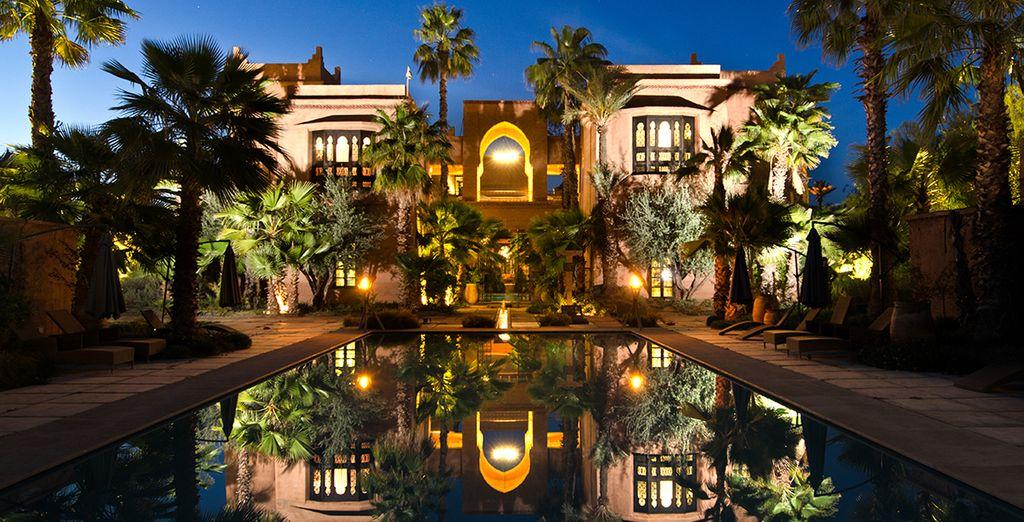 Desde el lujoso hotel Tigmiza Suites & Pavillons 5*