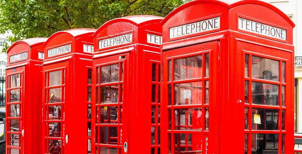 Hazte un selfie con una de las tan típicas cabinas rojas de Londres