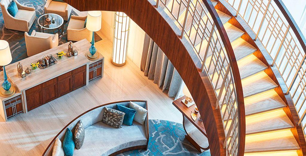 Forma parte de Al Habtoor City, uno de los desarrollos de hoteles y residencias de lujo más ambiciosos del mundo