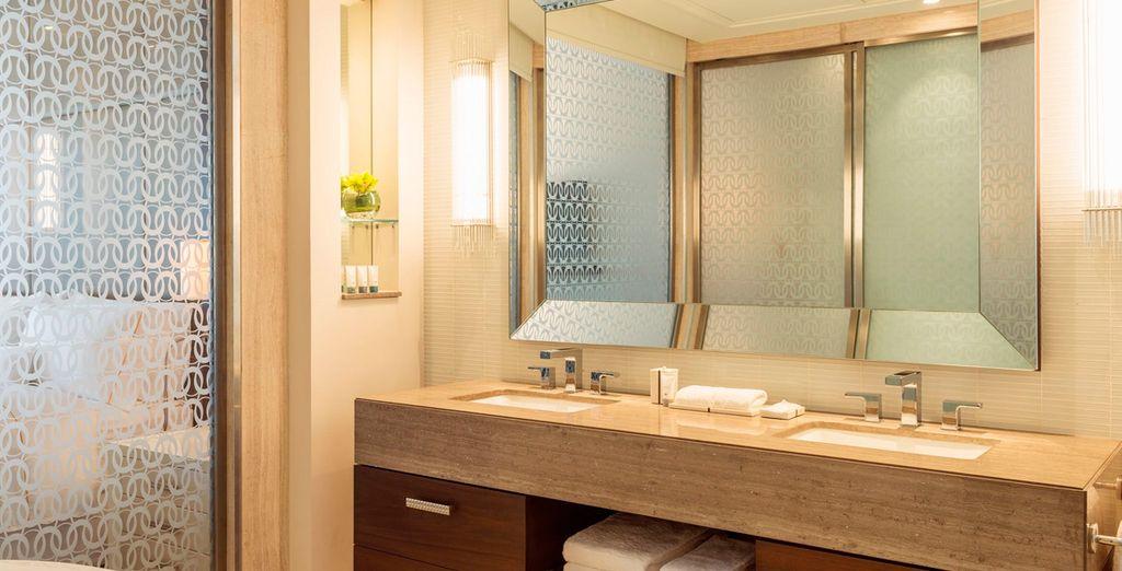 Con lujosos baños totalmente equipados