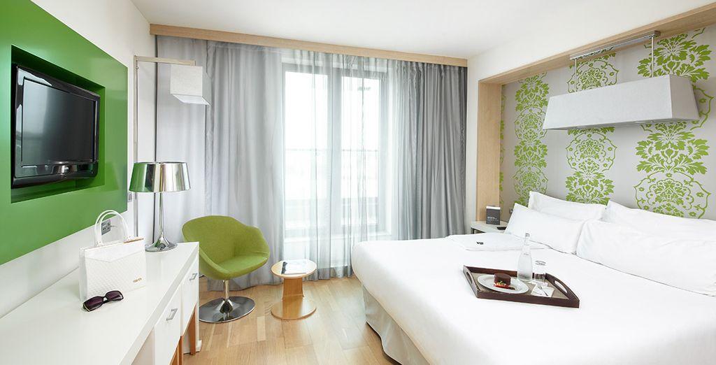 Descansa en una amplia y moderna habitación Executive en Occidental Praha Five 4*