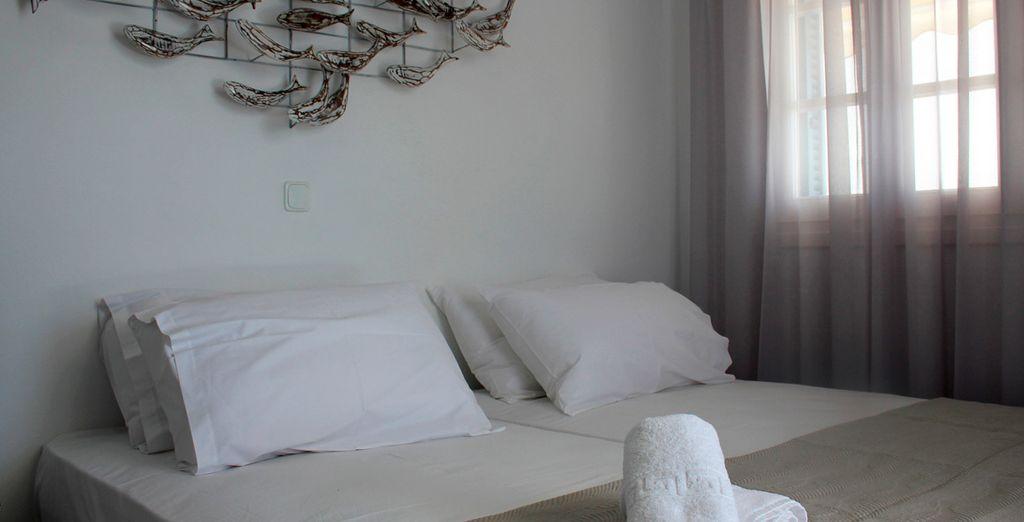Habitaciones cómodas y acogedoras