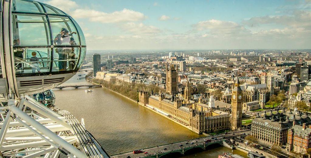 Contempla las mejores vistas de la ciudad desde el London Eye