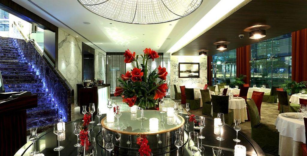 Con un restaurante tan elegante como el hotel