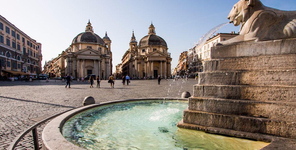 La Piazza del Popolo, uno de los lugares más bellos de la ciudad