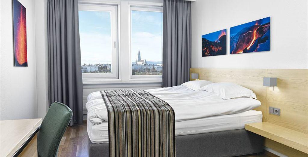 Habitaciones modernas e insonorizadas para el descanso más profundo