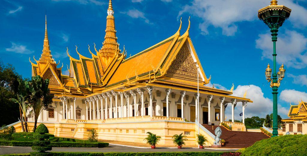 Visitarás el Palacio Real en Phonm Penh...