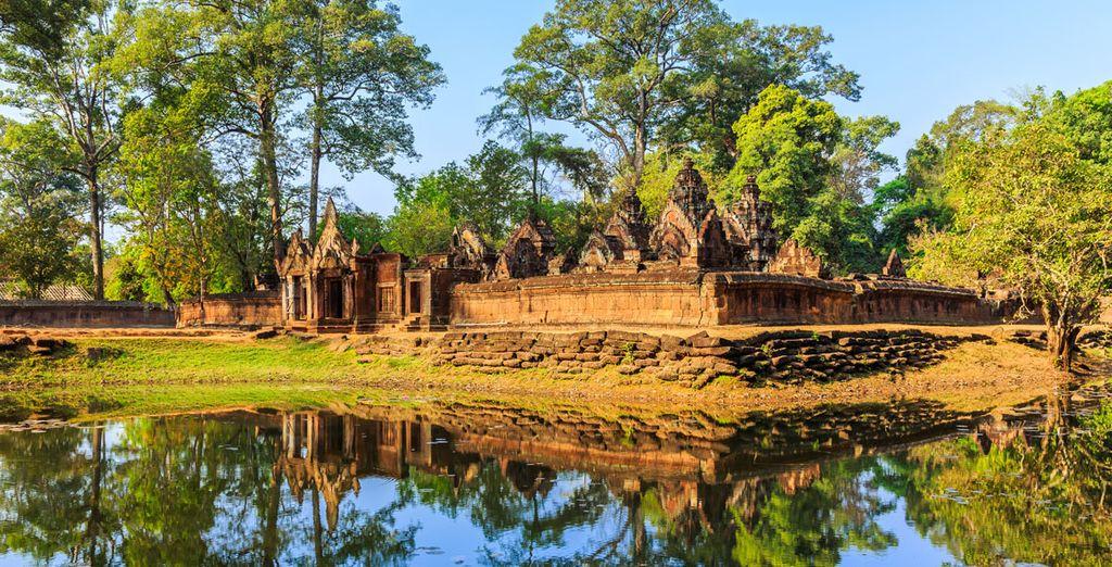 En Siem Reap visitarás el templo de Banteay Srei