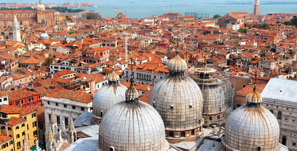 Vista panorámica de la ciudad de Venecia