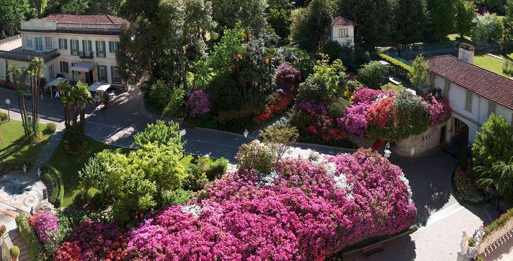 Pasea por su precioso jardín