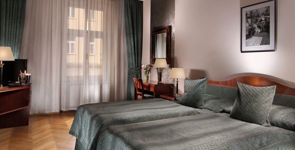 Durante tu estancia en Praga te alojarás en el Ariston & Ariston Patio Hotel 4*