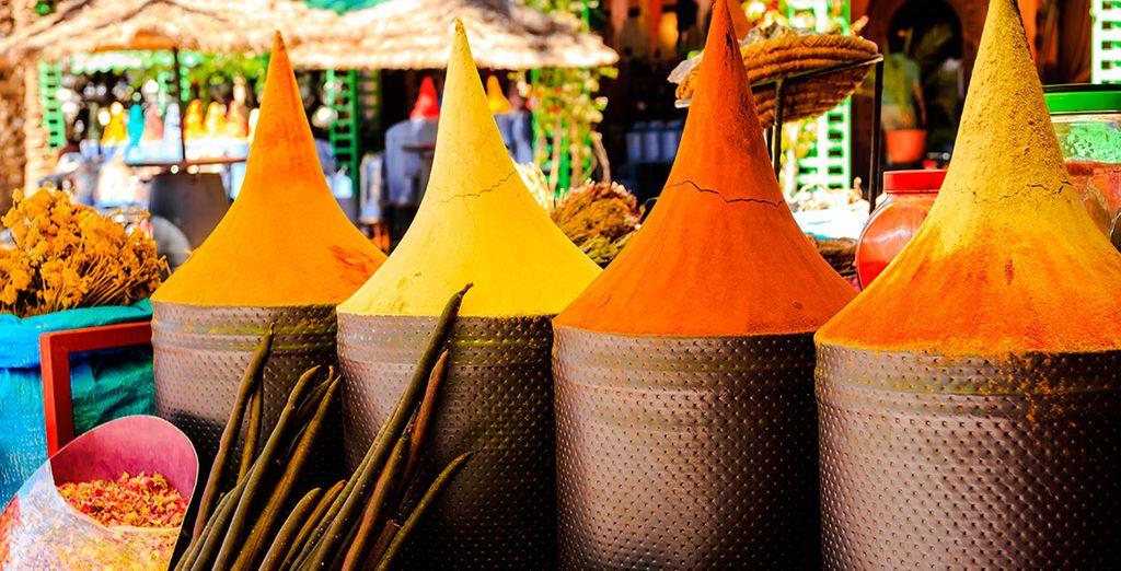 Deja que tus sentidos despierten con los aromas y colores de Marrakech