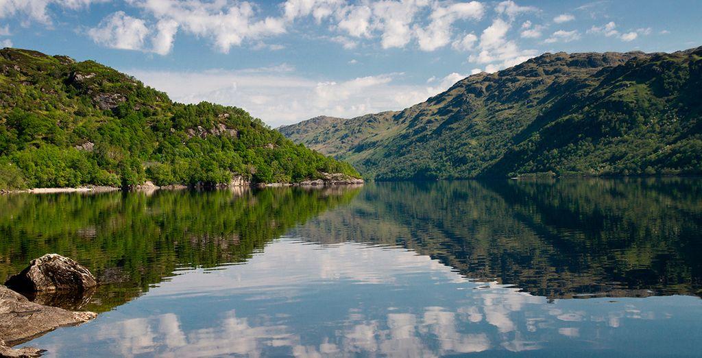 Aguas cristalinas en Loch Lomond...