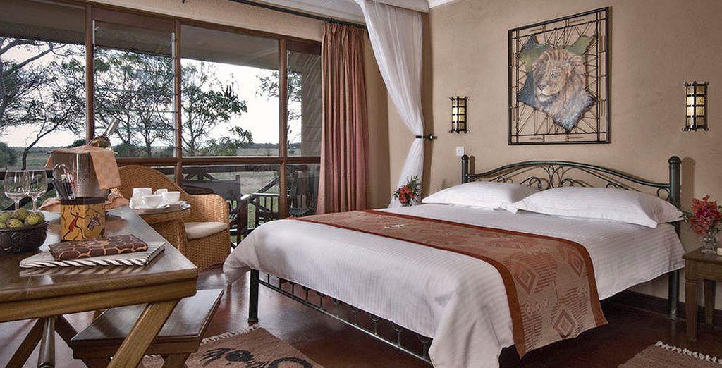 Descansarás en una cómoda y elegante habitación